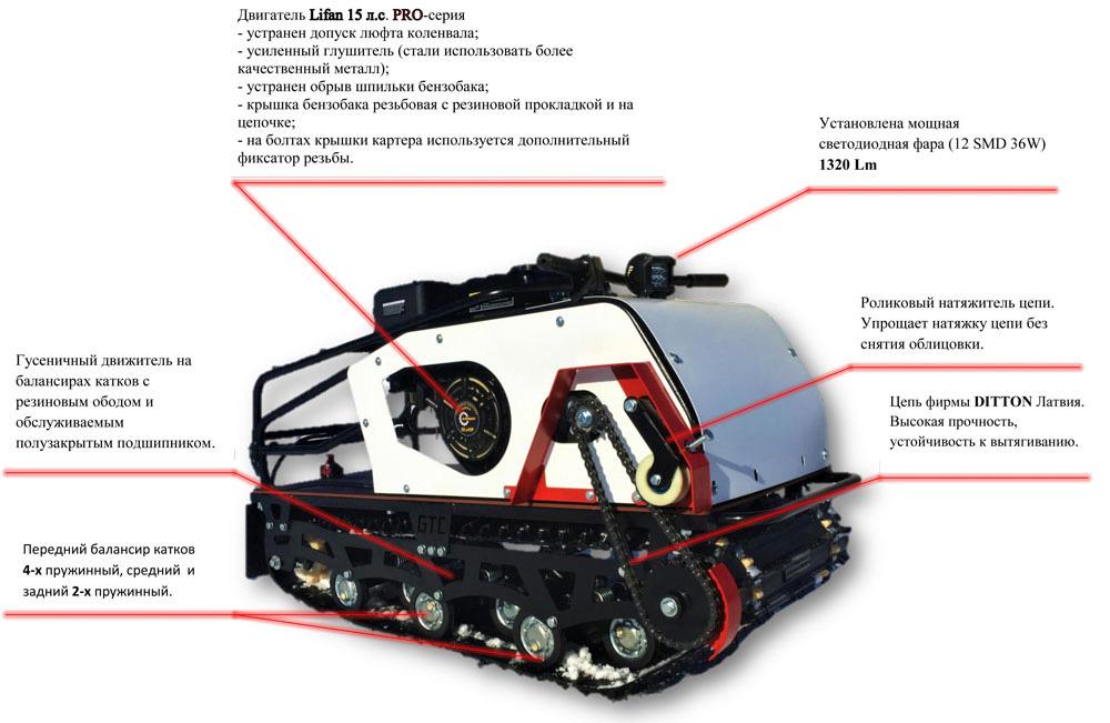 Мотобуксировщик Стандарт - Pro